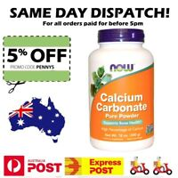 Now Foods Calcium Carbonate Powder 340g - Bone and Teeth Health & Strength Value