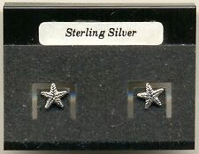Starfish Sterling Silver 925 Studs Earrings Carded