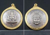 Rare Wealth Success Ganesha Antiques Luck Ganesh Hindu god Elephant Head Amulet