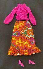 1972 Vintage Mattel Barbie Doll Outfit #3483 Purple Pleasers