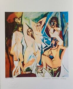 """Pablo Picasso WOMEN OF AVIGNON Estate Signed & Numbered Giclee Art 17"""" x 11"""""""