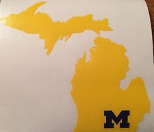 """University Of Michigan Wolverines Decal 5.0""""x5.5"""" 2 Colors **FREE SHIPPING**"""