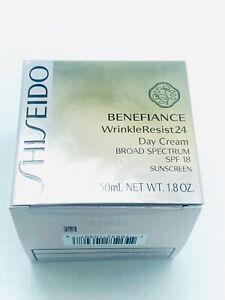 BRAND NEW IN BOX Shiseido Benefiance WrinkleResist24 Day Cream SPF 18 1.8oz