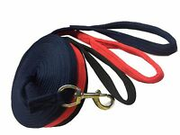 SOFT NYLON LUNGING REINS HORSE TRAINING AID LUNG LINE LUNGING ROPE IN ALL COLORS