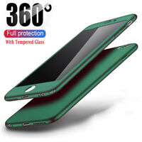 Hybrid 360° Case Cover For iPhone 11 Pro Max XS XR SE 2020 8 6 7+ Tempered Glass