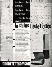 ▬► PUBLICITE ADVERTISING AD DUCRETET-THOMSON chaîne   1958