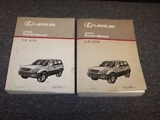 2000 Lexus LX470 SUV Workshop Shop Service Repair Manual Book Set 4.7L V8