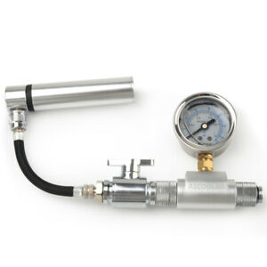 Aluminum PC Water Cooling Reservoir Radiator Leak Pressure Tester Detector Tool