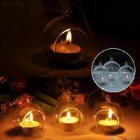 D2EC Glas Teelichthalter zum Aufhängen Hängen hängend Kerzenhalter Tischdekor