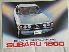 SUBARU 1600 BROCHURE GAMMA APR 1977