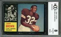1962 topps #28 JIM BROWN cleveland browns BGS BCCG 8