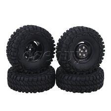 "4PCS 1.9"" 115mm Rubber Tire + 4 Holes Wheel Rim for RC1:10 Rock Crawler"