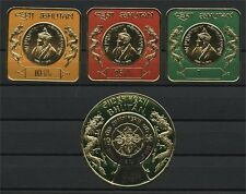 BHUTAN, NICE GROUP: 3-D, HEAT MOLDED and GOLD FOIL STAMPS ALL MNH!