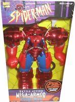 1996 toybiz marvel comics Battle Action Mega-Armor Spider-Man Sealed