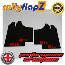 rallyflapZ ROVER MG ZR (01-05) Hatchback Mud Flaps Black 3mm PVC Logo Red