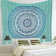 210cm Large Indian Wall Hanging Tapestry Mandala Tapestries Bohemian Throw Green