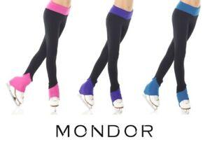 MONDOR® NEW Polartec® Figure Skating HEEL COVER Leggings Many Sizes Three Colors