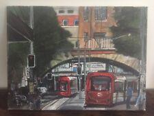 Sydney Light Rail Trams - Original Acrylic Painting On Canvas