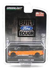 1:64 GreenLight *MiJO EX* BLACK & ORANGE 2019 Ford F-350 DUALLY Pickup Truck NIP