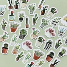 45Pcs Paper Stickers Cactus Plants Scrapbooking DIY Diaries Notebook Accessory