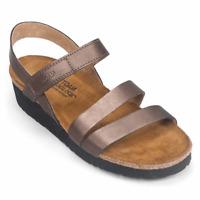 Naot Women's Kayla Wedge Sandal-Copper Leather
