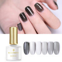 BORN PRETTY 6ml Transparent Grau Nagel Gellack Soak Off UV Nail Art Gel Varnish