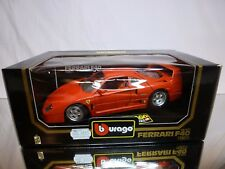 BBURAGO 3032 FERRARI F40 1987 - 1st series - RED 1:18 - EXCELLENT IN BOX