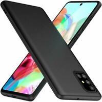 For Samsung Galaxy A71 Case Slim Soft Silicone Gel Cover - Matte Black