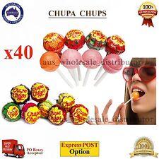x40 Chupa Chups Best Of Lollipops 12g Assorted Mix Flavour Bulk Lollies Candy OZ