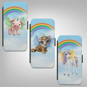 Unicorn Animals Rainbow FLIP WALLET PHONE CASE COVER FOR IPHONE SAMSUNG HUAWEI