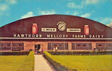 """Libertyville IL """"The Milking Parlor""""  Old Cars Postcard"""