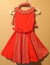 Super Cute Dress Red White Sz 9 10 Yrs