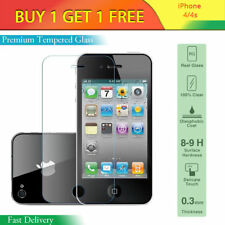 Toughened Proof Tempered 8-9H Glass Screen Protector for iPhone 4 4G 4S 4GS