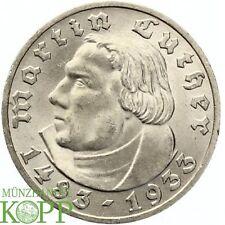 G615) J.353 DRITTES REICH 5 Reichsmark 1933 A - Martin Luther