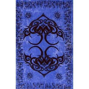 Istanbul Blue Tribal Rayon Sarong, Banner or Altar Cloth!