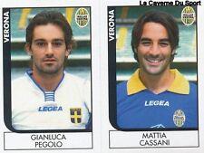 653 PEGOLO/CASSANI ITALIA VERONA SERIE B STICKER CALCIATORI 2006 PANINI