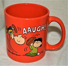 Classic Lucy Charlie Brown Football Peanuts Fall Ceramic Coffee Tea Mug Cup New
