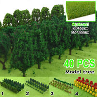 40PCS HO Mini Tree Scale Model Turf Trees  Layout Railway Road Landscape