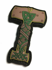 """The THOR HAMMER PVC / Rubber MORALE Norse Viking PATCH 2.5"""" X 2"""""""