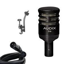 Audix*D6+DRUM RIM CLIP*Microphone Instrument Mic Bundle + XLR Cable FREE2DAY...