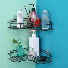 Bathroom Kitchen Shower Caddy Shelf Triangular Wall Corner Rack Organizer Holder