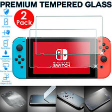 2 Pack of Genuine TEMPERED GLASS Screen Protector Covers For Nintendo Switch UK