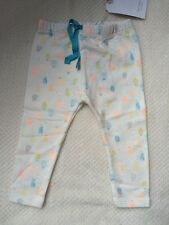 ZARA Mini Baby Boys Girls Off White Pineapple Leggings 9-12 Months BNWT