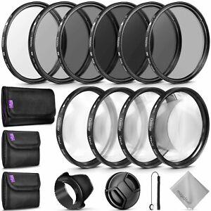 52MM Complete Lens Filter Accessory Kit for NIKON DSLR Cameras