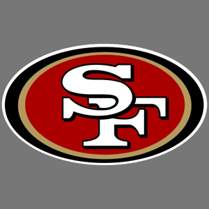 San Francisco 49ers NFL Car Truck Window Decal Sticker Football Bumper SF