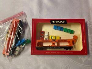 Tyco Frisco HO Auto Loader Trailer Train w/6 Autos & Loading Platform SL-DF 2530
