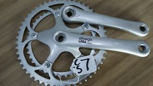 OFMEGA ALLOY DOUBLE CHAINSET 170mm 52 x 42t 130 BCD VERY GOOD CONDITION CS7