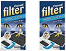 2x Universal Replacement Charcoal Filter for Hooded Cat Litter Tray Enclosed Loo