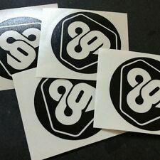 "(4x) 2"" Tron 89 Die Cut Decal Stickers"