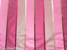 Harlequin Curtain Fabric IZUMI 14.4m 100% Silk Weave Ribbon Stripe Design Pink
